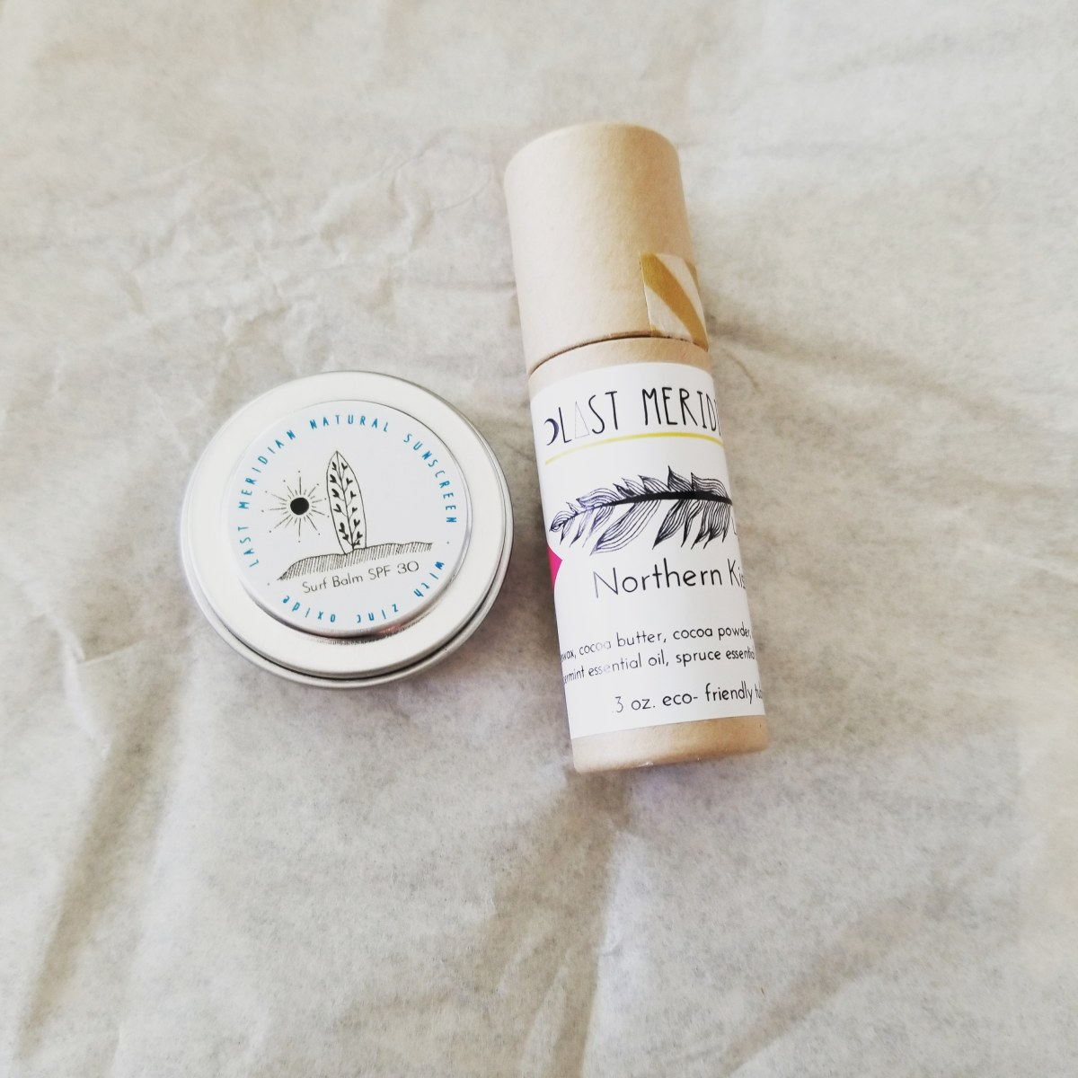 Last Meridian Lip Balm and Surf Balm